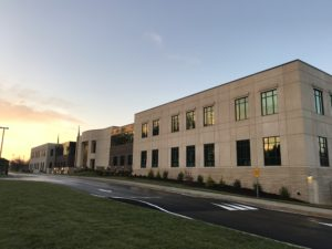 Newton Justice Center with Sunrise