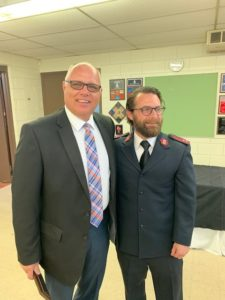 Tom Adkins with Salvation Army